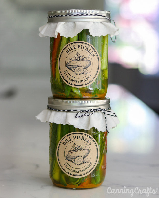 Learn How to Can Crunchy Dill Pickles with this Waterbath Canning Recipe from CanningCrafts.com