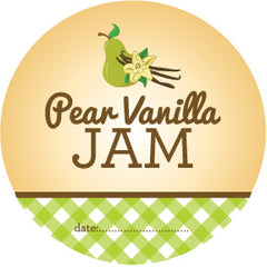 pear vanilla jam labels