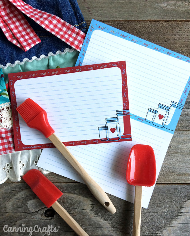 Free Printable Retro Recipe Cards for canning and food preservation | CanningCrafts.com
