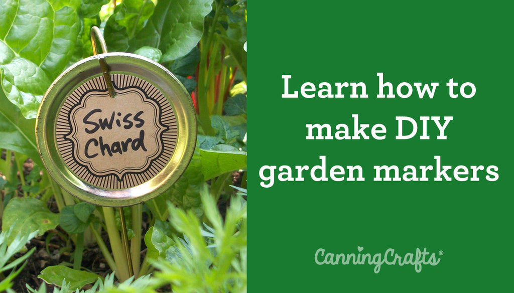 DIY Garden Markers with Canning Lids Tutorial