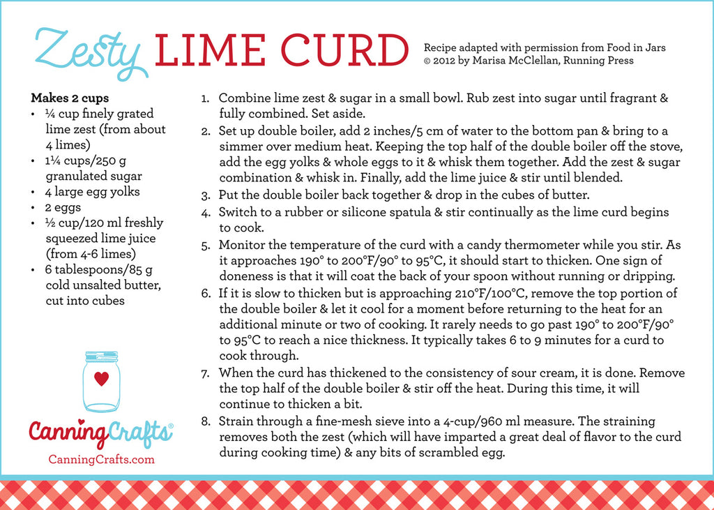 Lime Curd Canning Recipe provided by Marisa McClellan   CanningCrafts.com