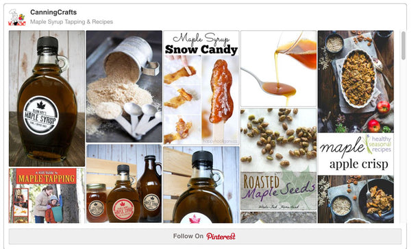 Maple Syrup Tapping & Recipes Pinterest Board | CanningCrafts.com