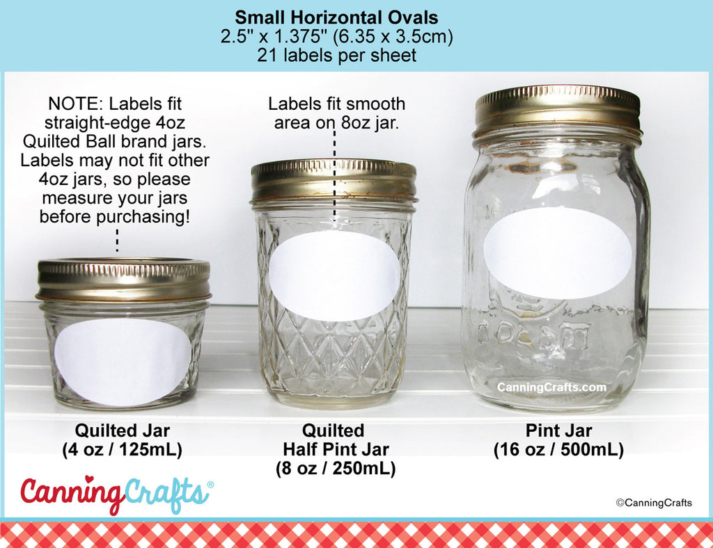 Oval Canning Jar Label Size Chart | CanningCrafts.com