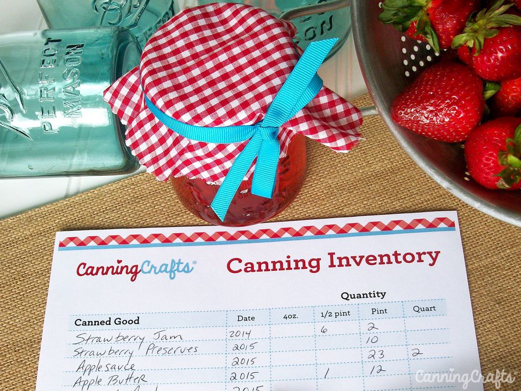 Free printable canning inventory chart from CanningCrafts.com