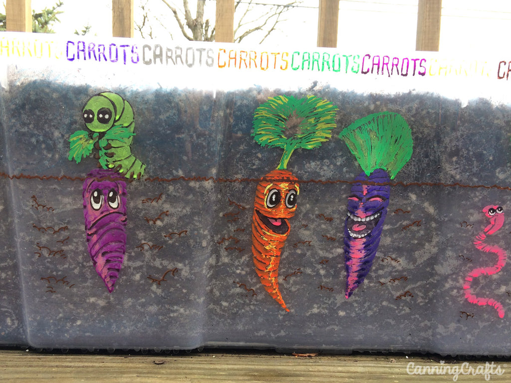 Carrot Garden Container | CanningCrafts.com