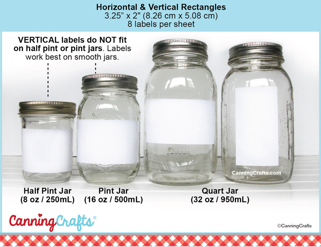 Rectangle Canning Label Size Chart | CanningCrafts.com