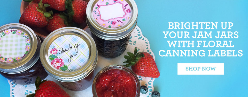 SHOP for Flower Canning Jar Labels on CanningCrafts.com