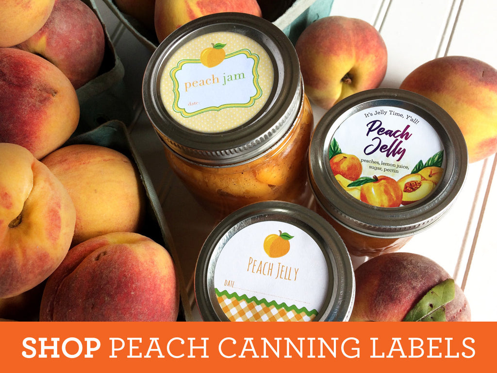 Shop all of our Peach Canning Labels on CanningCrafts.com