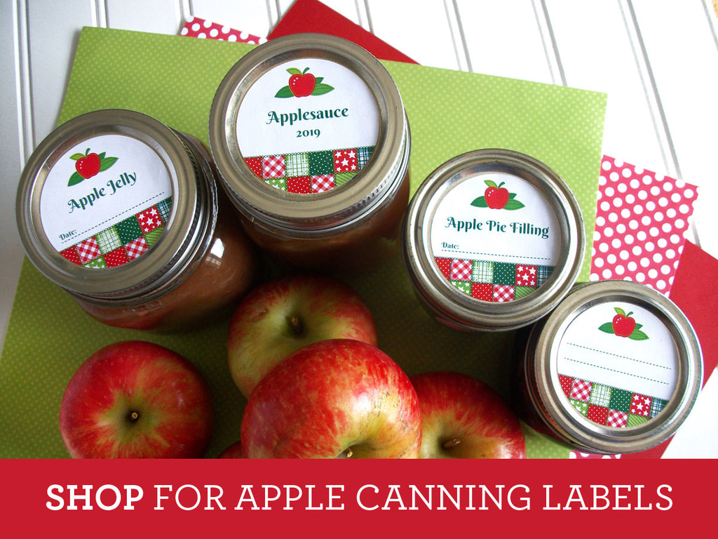 Country Quilt Apple Canning Labels | CanningCrafts.com