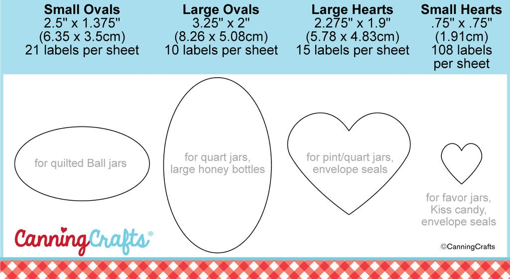 Canning Jar Label Size Charts | CanningCrafts.com