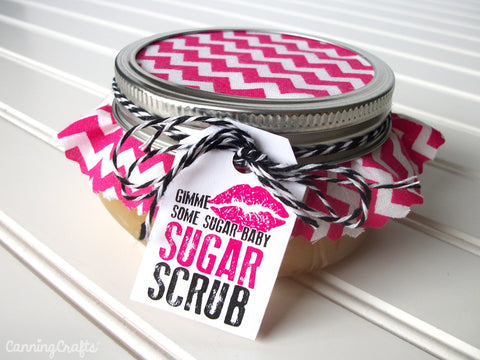 free printable sugar scrub hang tag from CanningCrafts.com