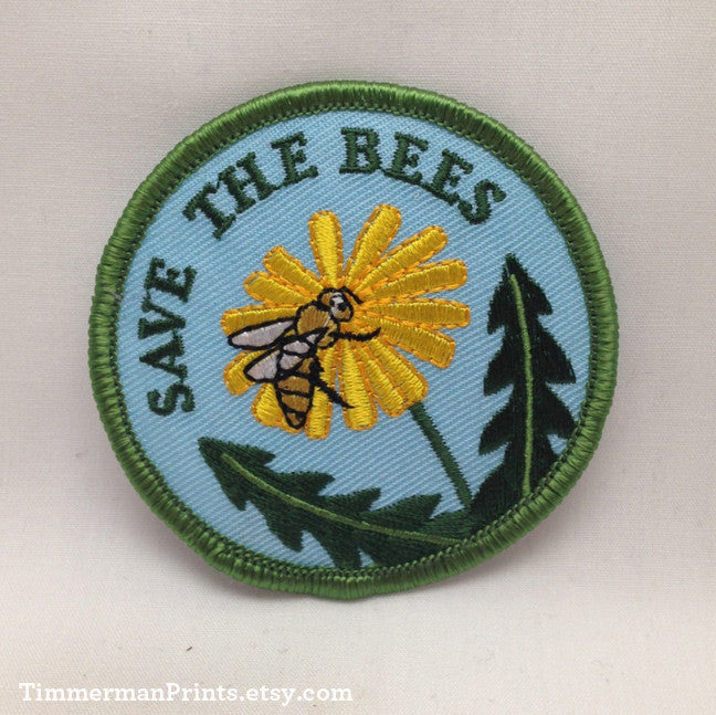 Save the Bees Embroidered Scouting Patch by Timmerman Prints