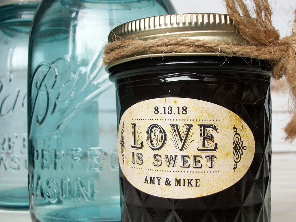 Custom Vintage Wedding Jam Jar Favor Labels | CanningCrafts.com