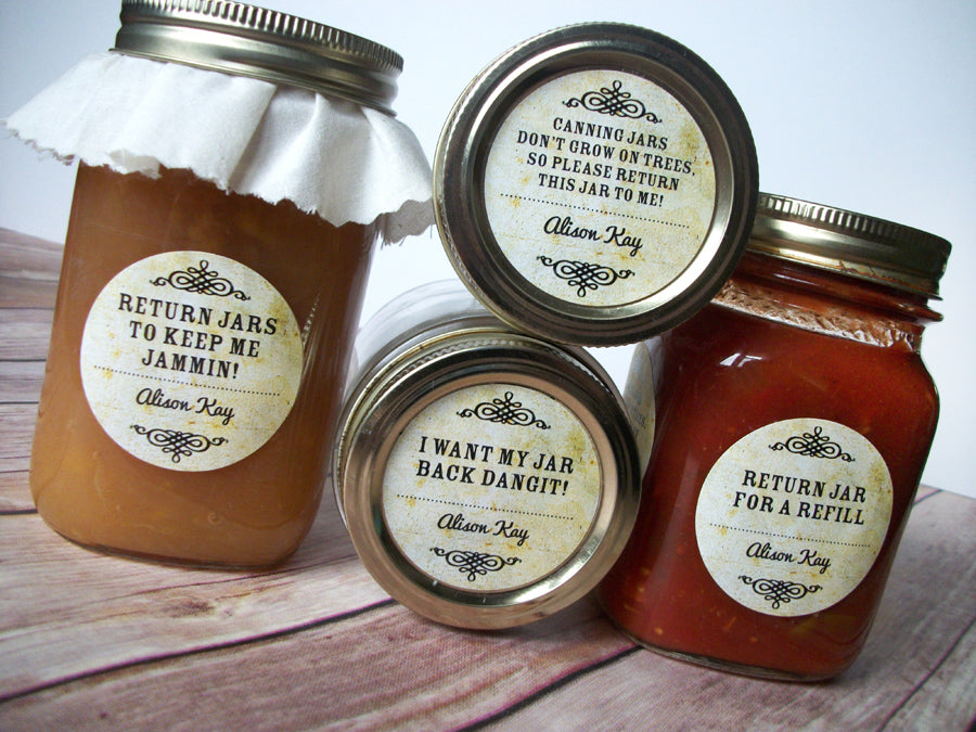 Return Jar Canning Labels