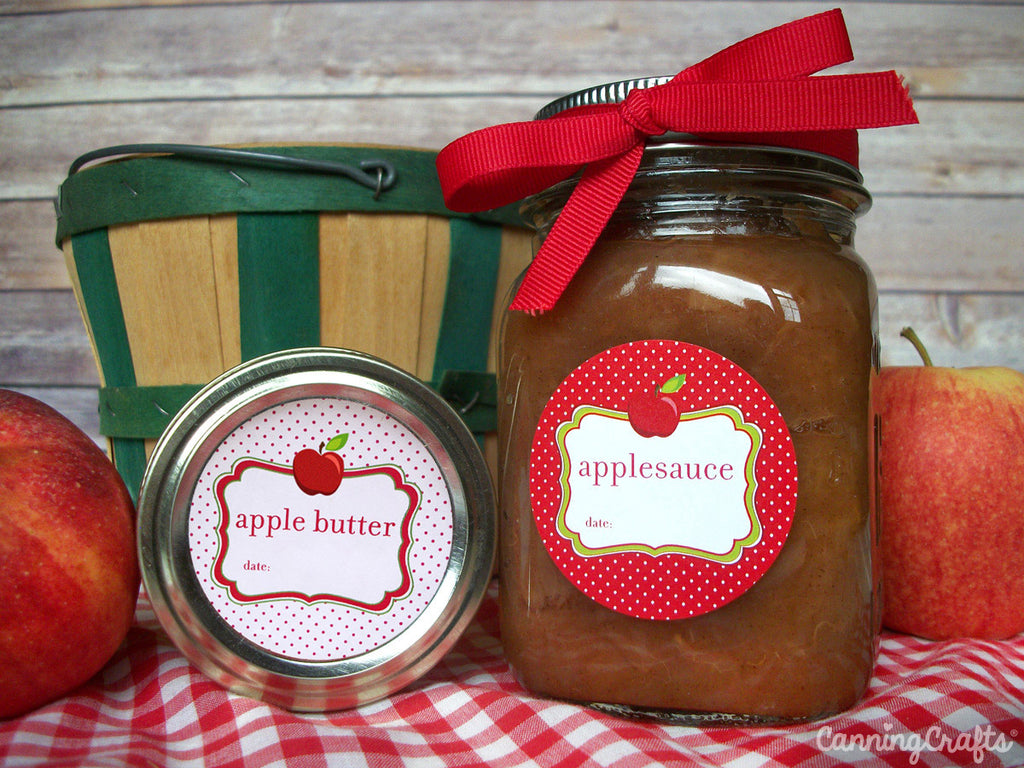 Apple Canning Labels for butter and applesauce