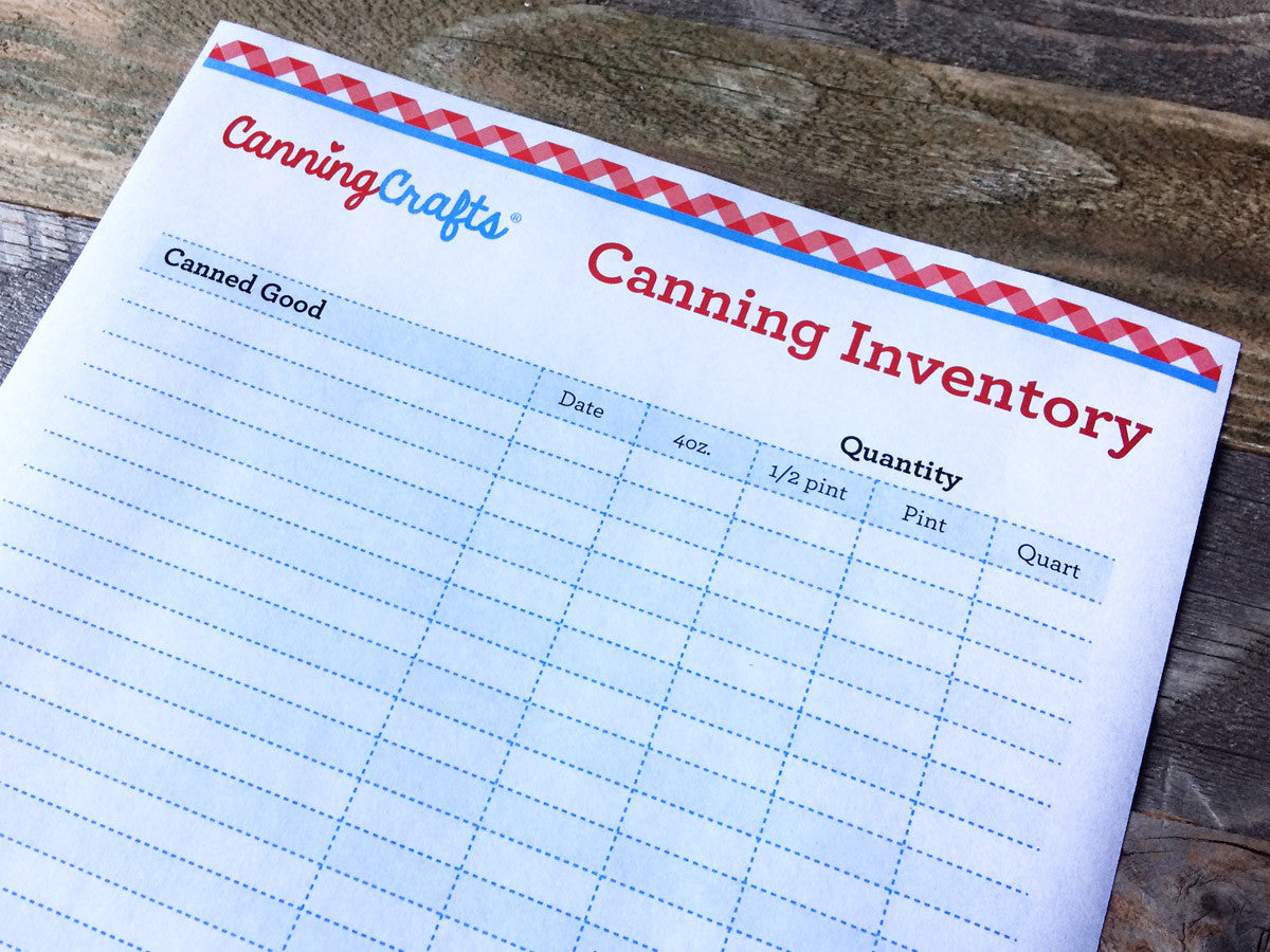 Free printable canning inventory chart | CanningCrafts.com