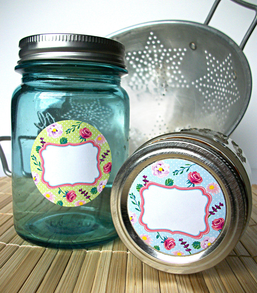 flower chic canning labels
