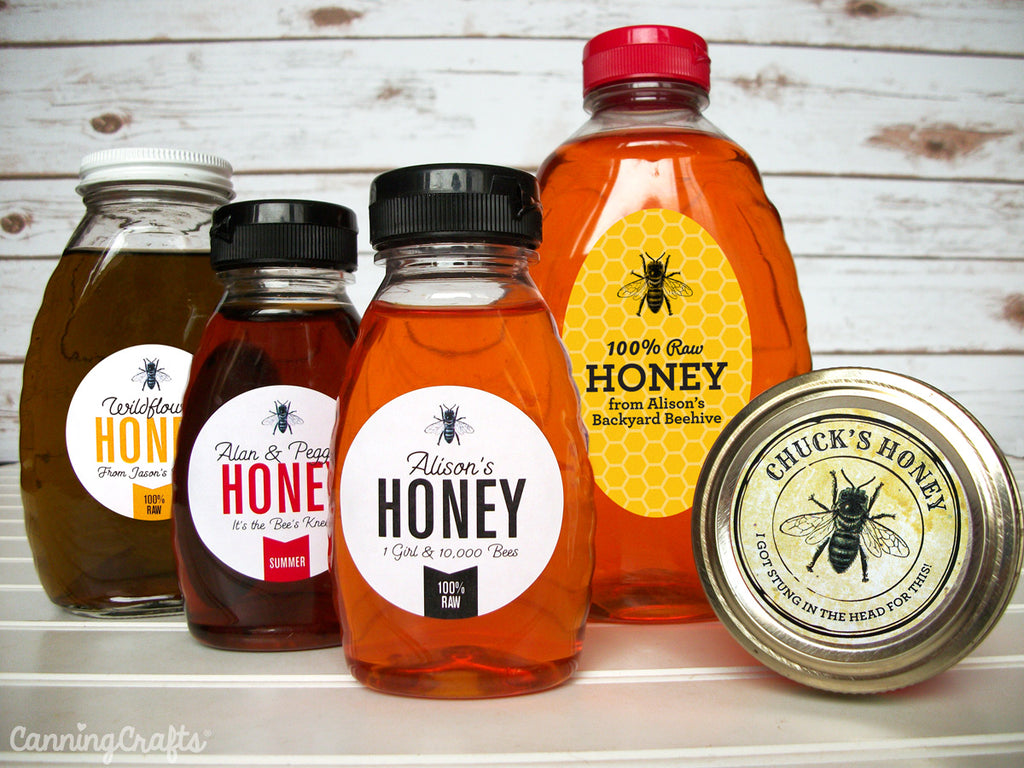 custom honey labels for backyard beekeepers | CanningCrafts.com