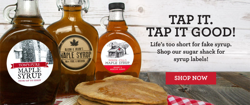 Shop for Custom Maple Syrup Labels | CanningCrafts.com