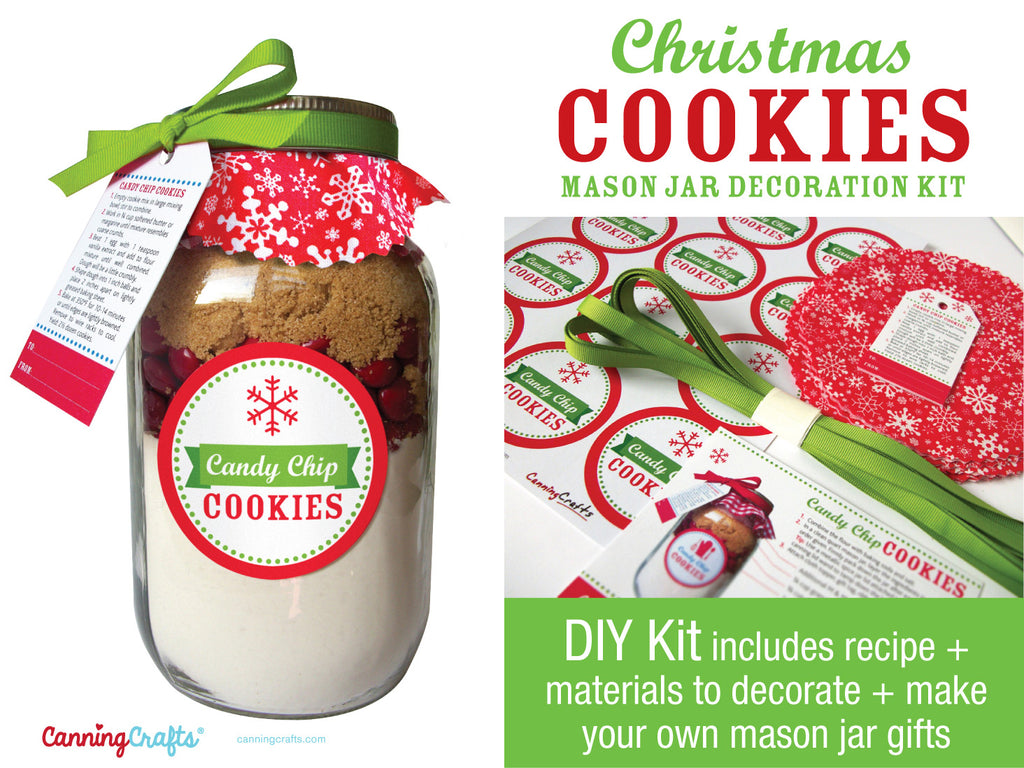 DIY Christmas Cookie Mason Jar Decoration Kit | CanningCrafts.com