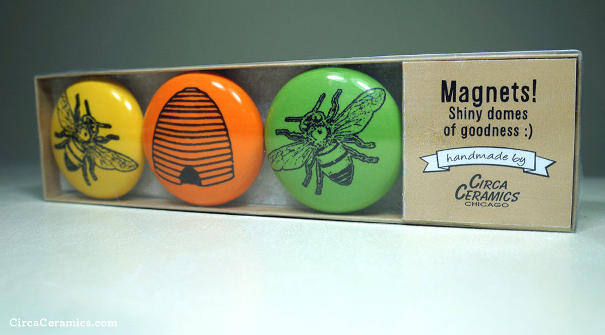 Magnet Set for the Beekeeper by Circa Ceramics
