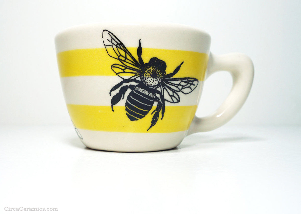 Striped Honey Bee Cup by Circa Ceramics