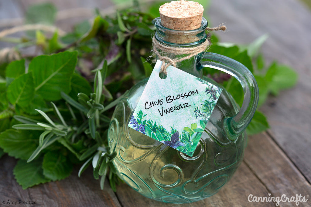 Flavor Infused Vinegar with FREE Printable Hang Tags | CanningCrafts.com