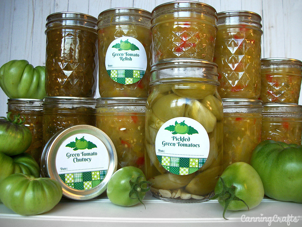 Garden 2019: Canning Green Tomatoes for pickles, relish, & chutney | CanningCrafts.com