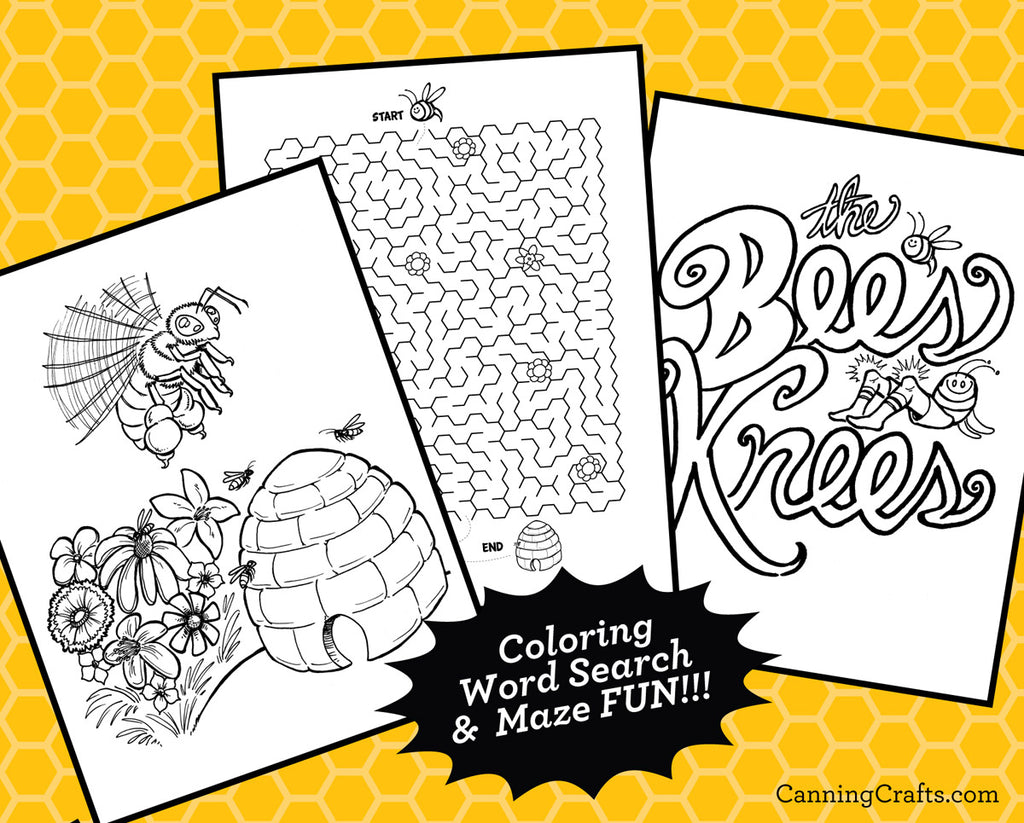 printable honey bee coloring pages games wearable honey bee mask canningcrafts. Black Bedroom Furniture Sets. Home Design Ideas