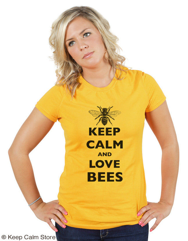 Keep Calm and Love Bees T-shirt by Keep Calm Store