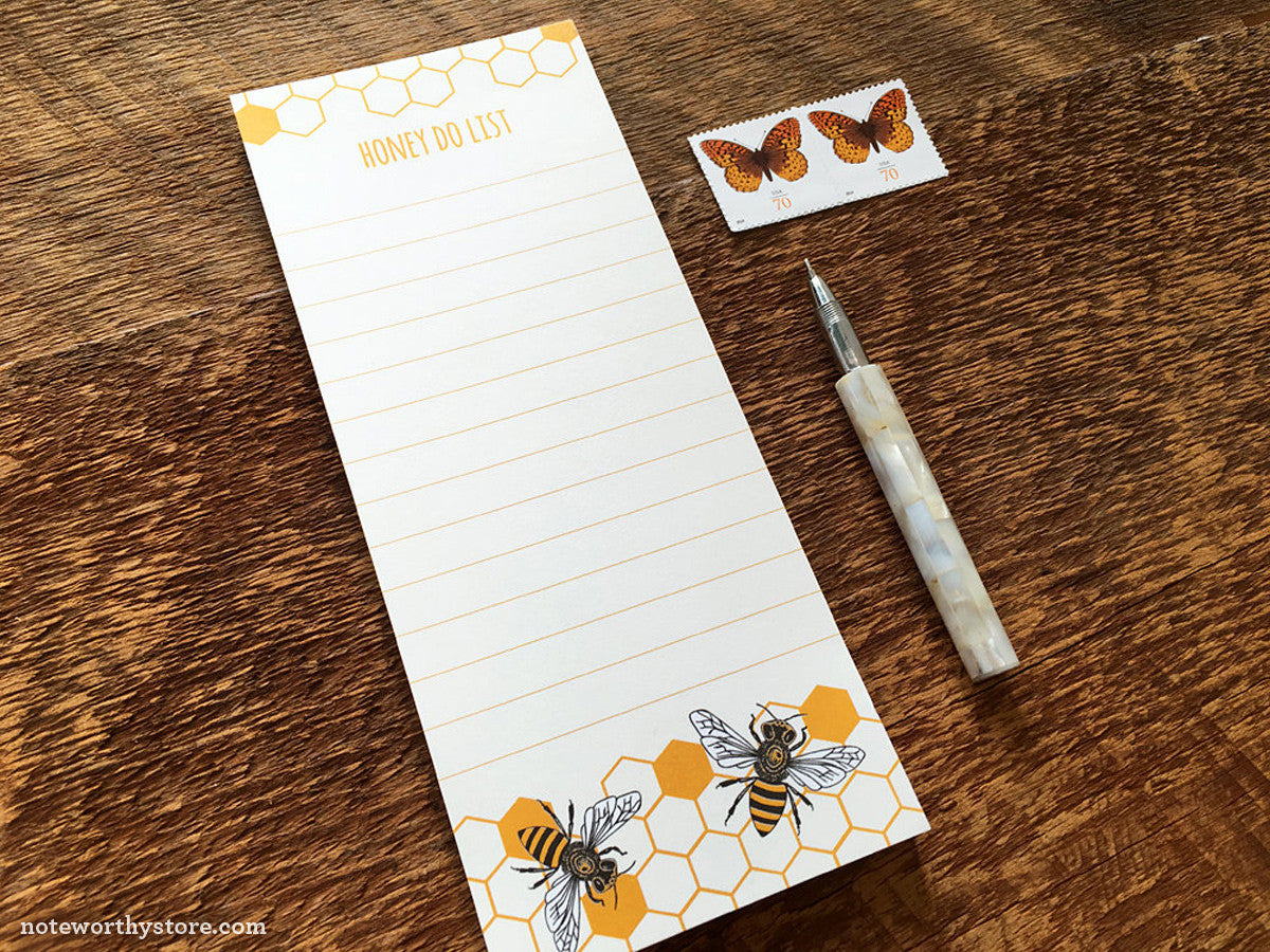 Honey Do List Notepad by Noteworthy Paper Press
