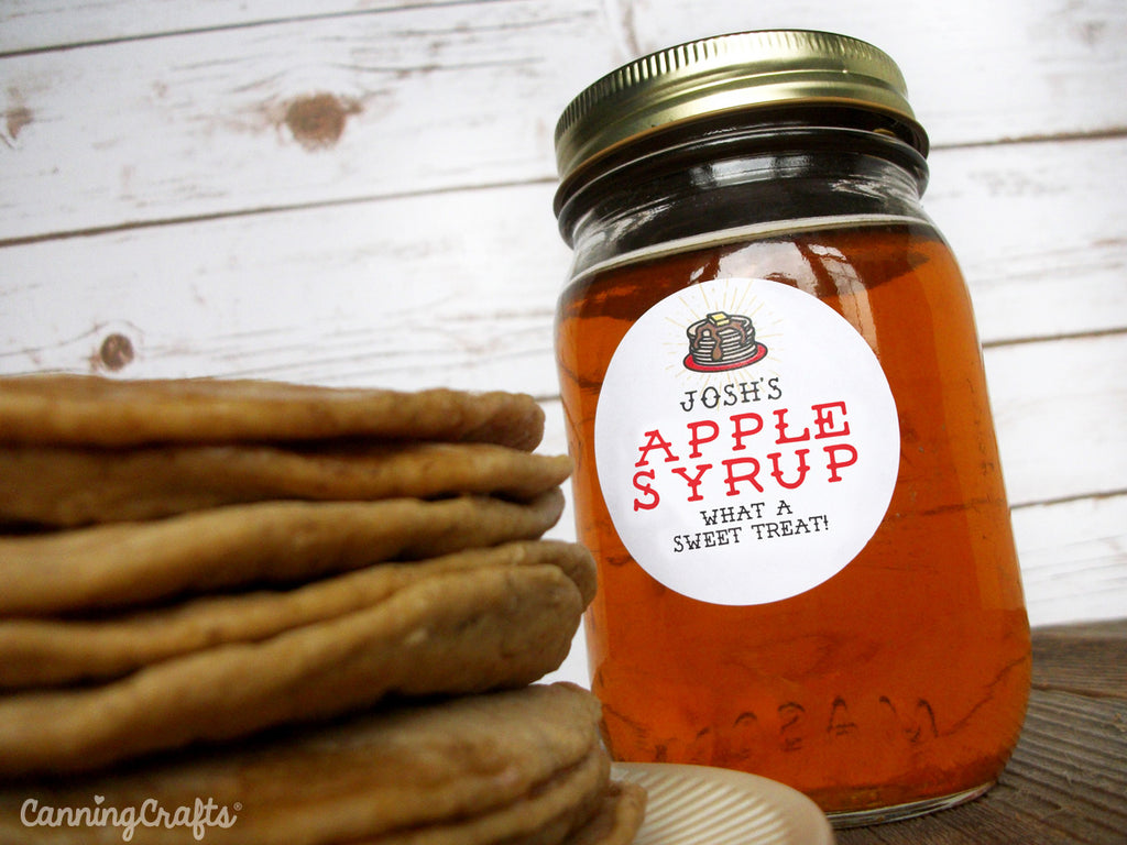 Apple Maple Syrup canning labels