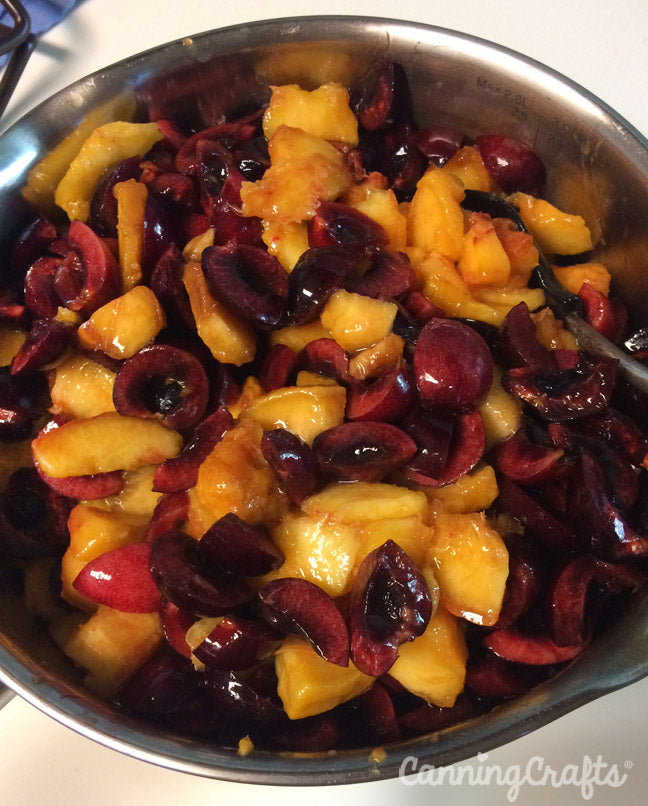 peach cherry compote canning recipe | CanningCrafts.com
