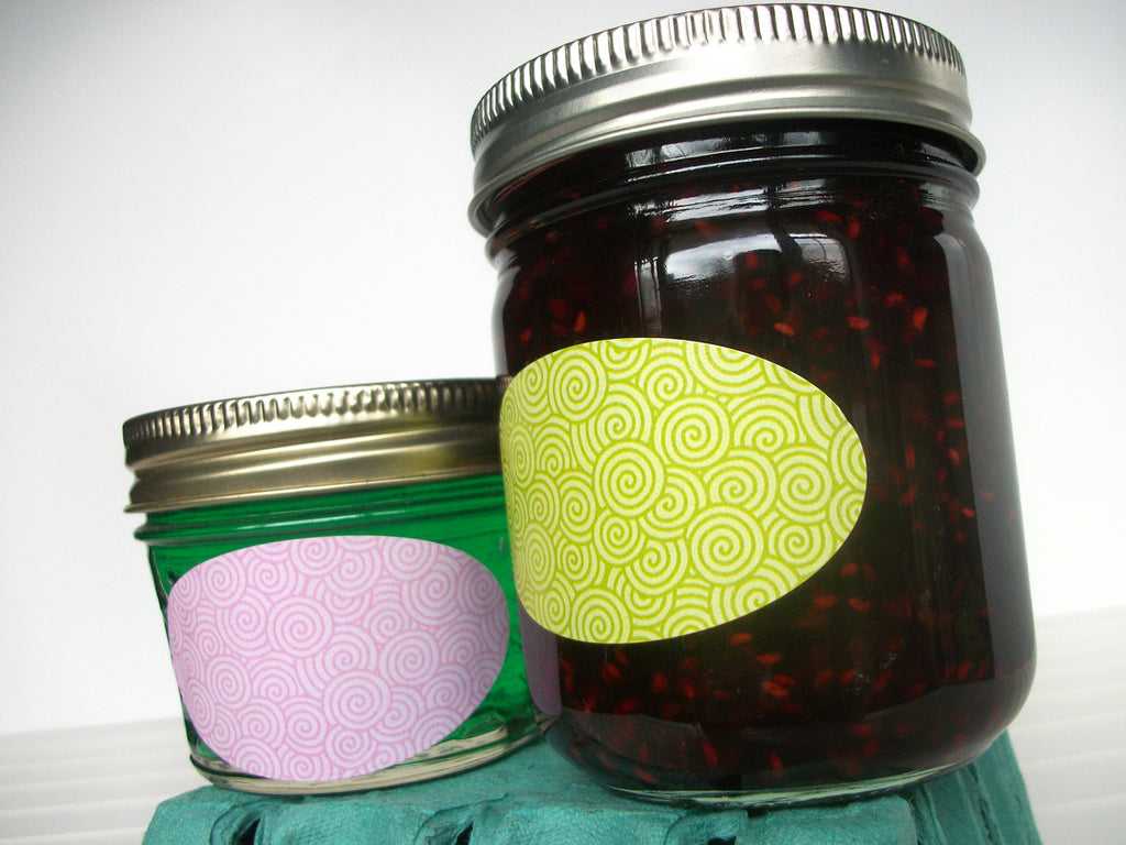 quilted jar oval canning labels CanningCrafts.com
