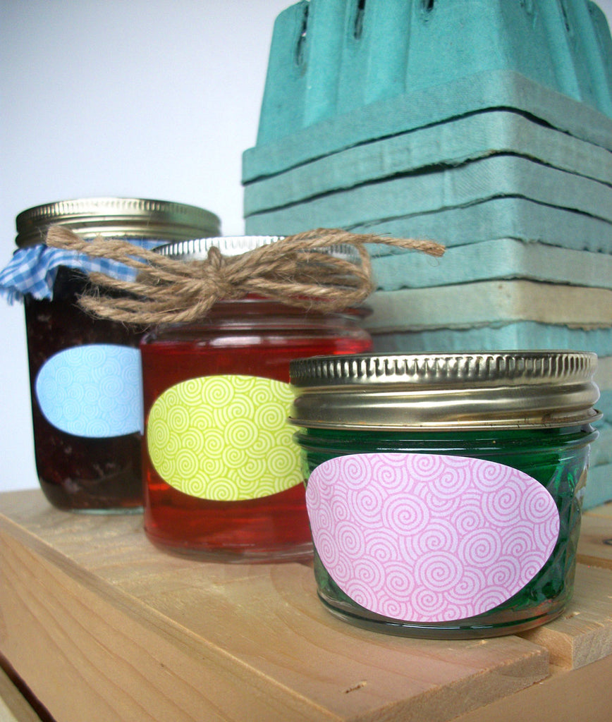 quilted jar oval labels CanningCrafts.com