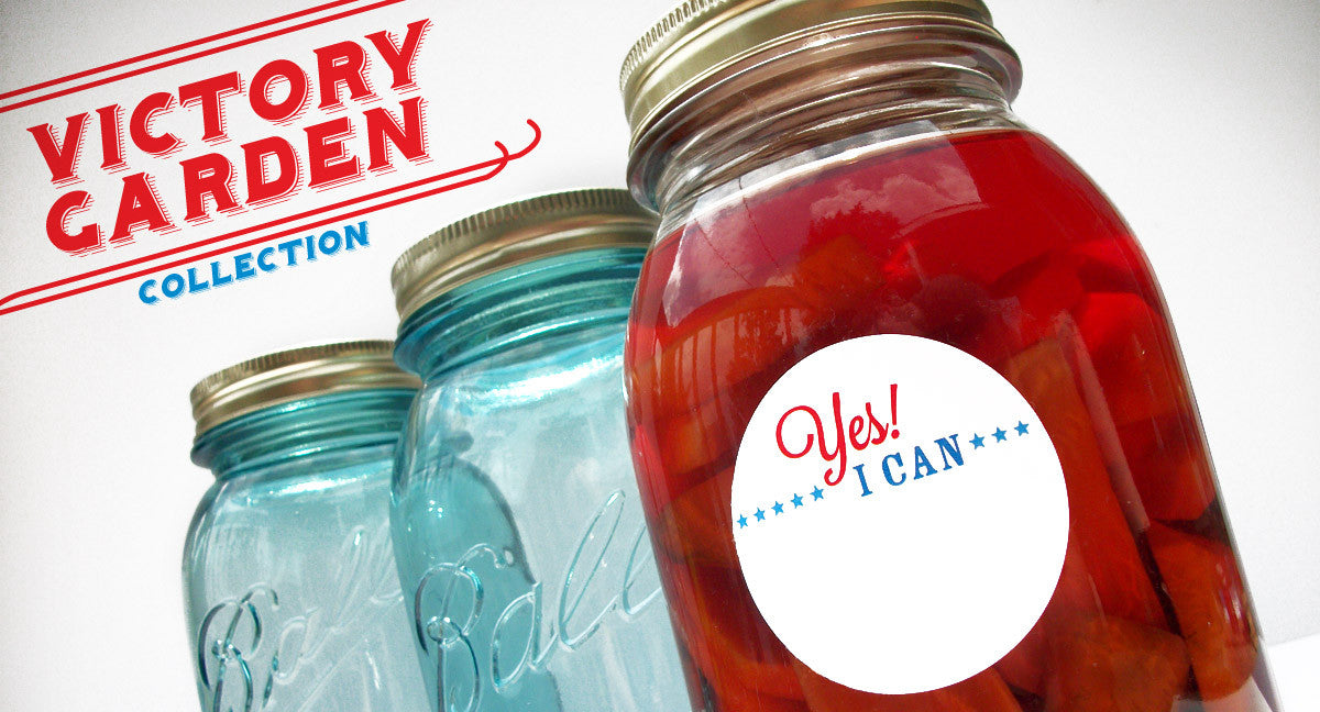 Victory Garden Canning Labels | CanningCrafts.com