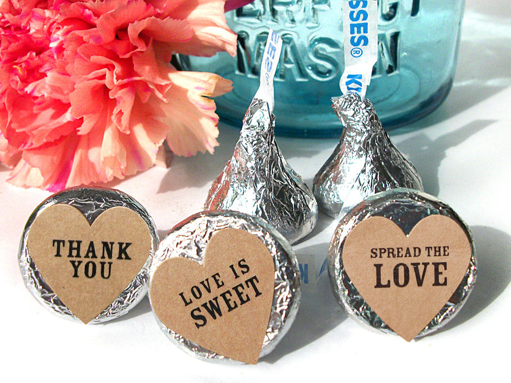 Custom Hershey Kiss Candy Wedding Favor Labels | CanningCrafts.com