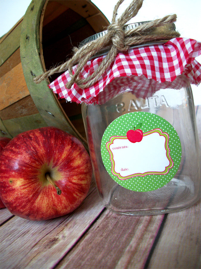 Apple Mason Jar Labels | CanningCrafts.com