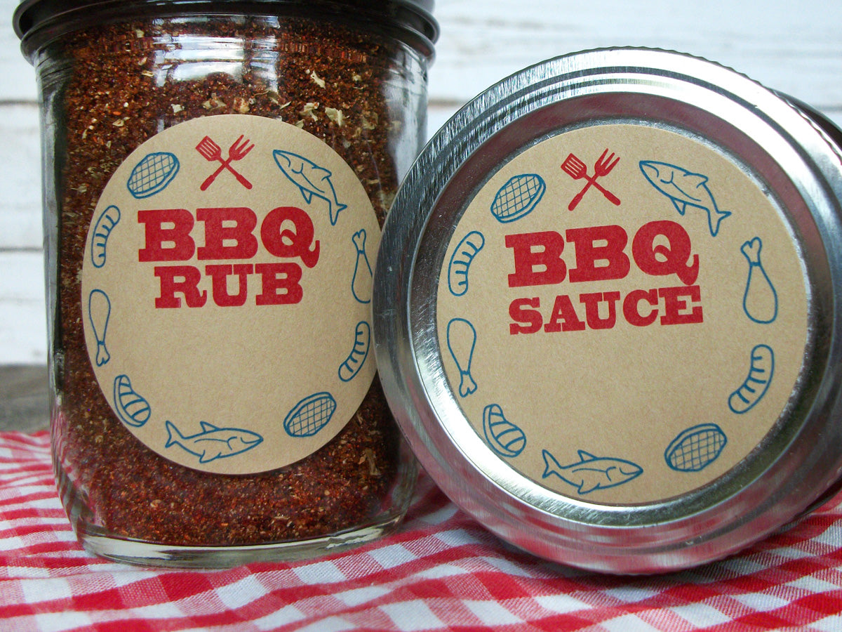 BBQ Sauce & Rub Canning Labels | CanningCrafts.com
