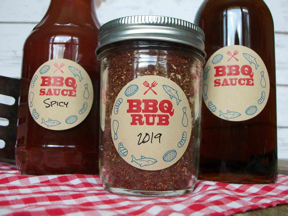 BBQ Sauce Bottle & Canning Labels | CanningCrafts.com
