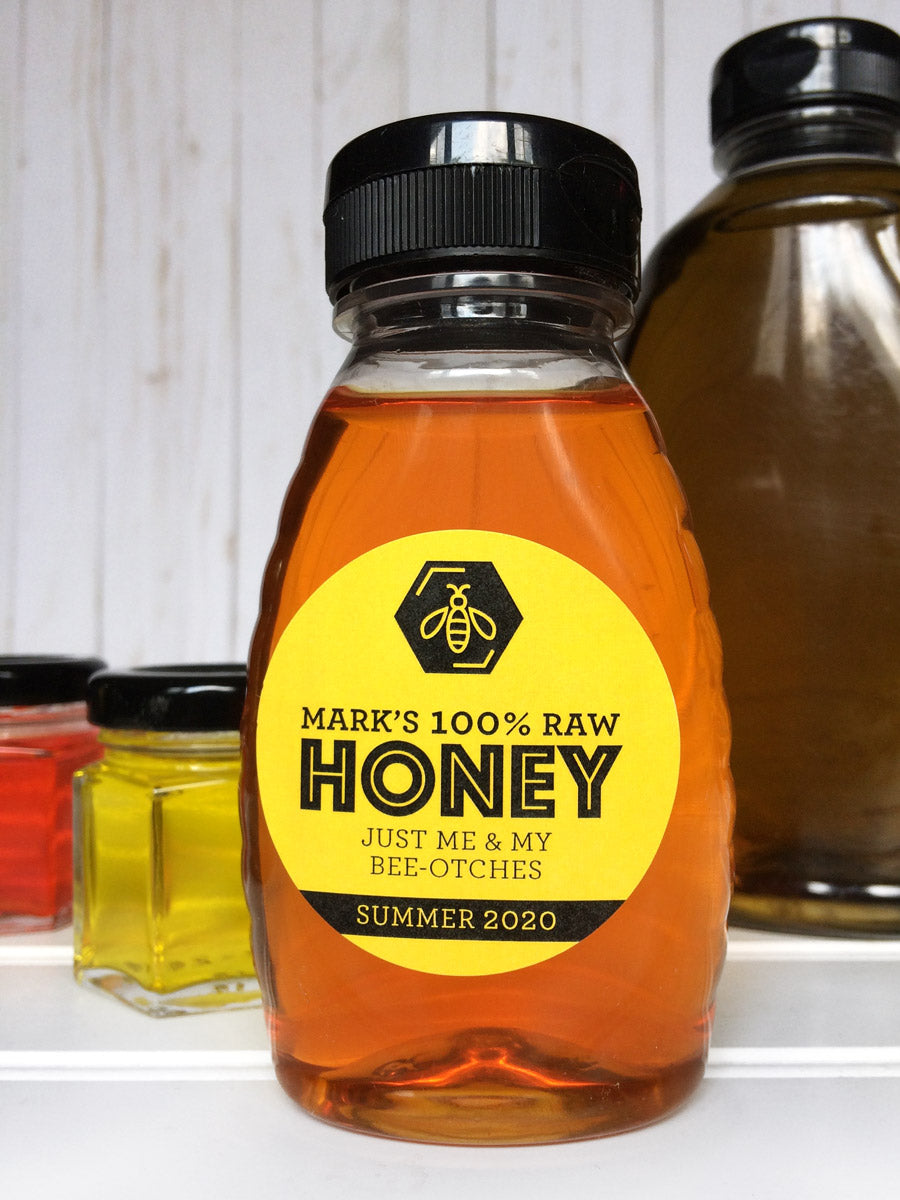 Custom Bee Bold Honey Bottle Labels | CanningCrafts.com