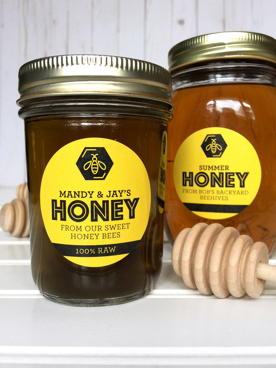 Custom Bee Bold Honey Jar Labels | CanningCrafts.com