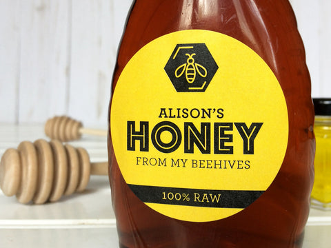 Custom Bee Bold Honey Labels | CanningCrafts.com