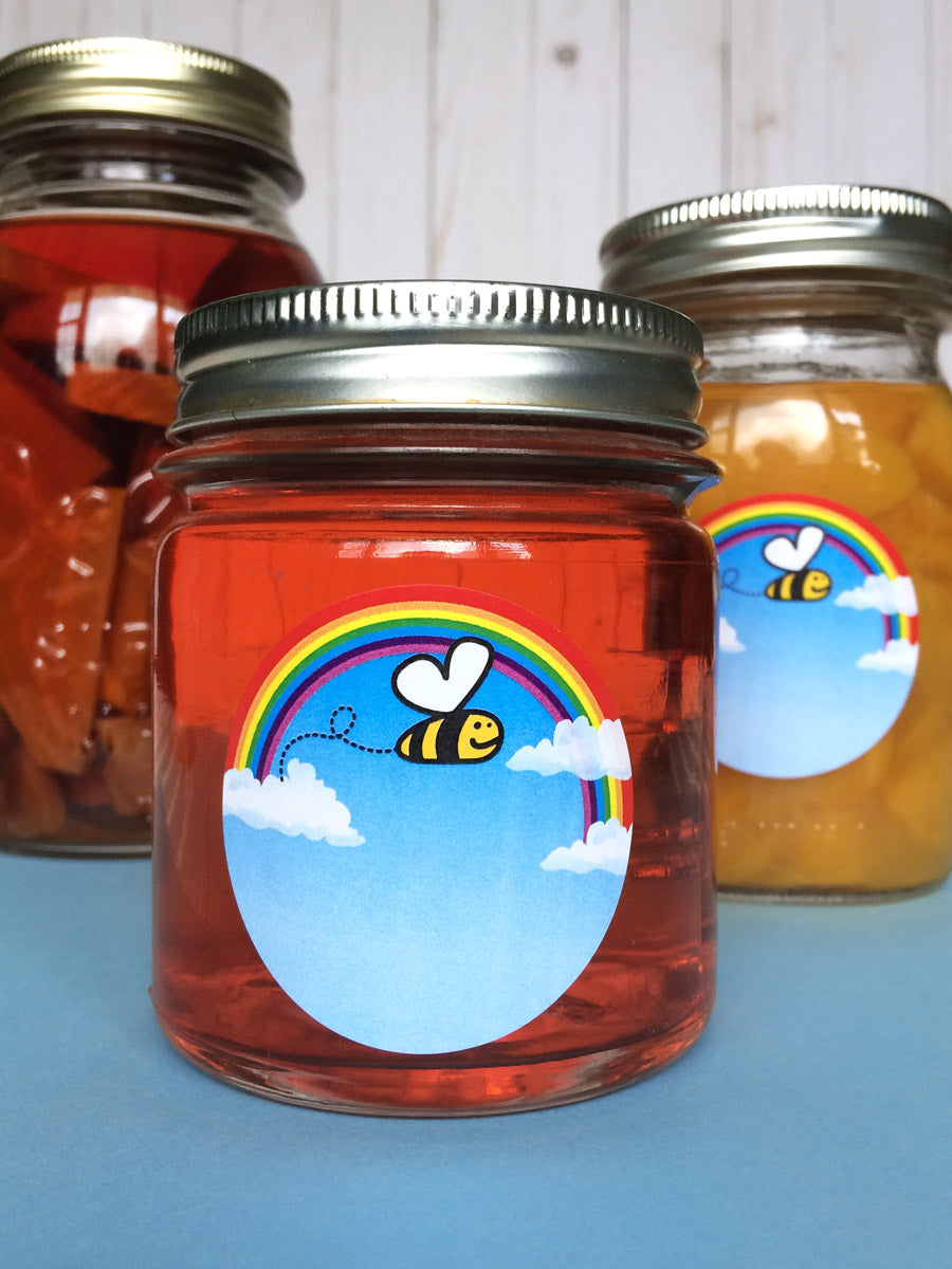 Bee Happy Canning Jar Labels | CanningCrafts.com
