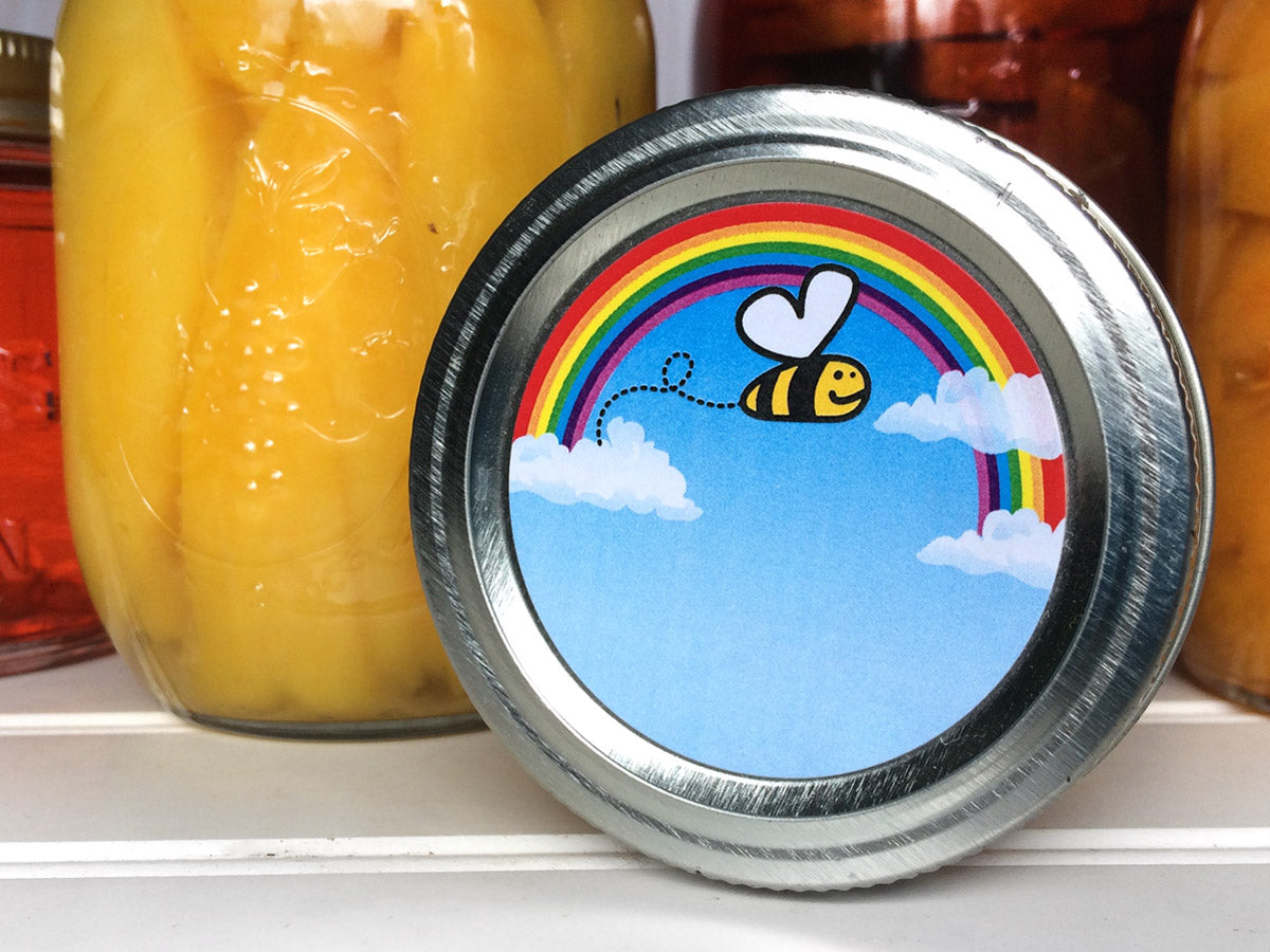 Bee Happy Canning Labels | CanningCrafts.com
