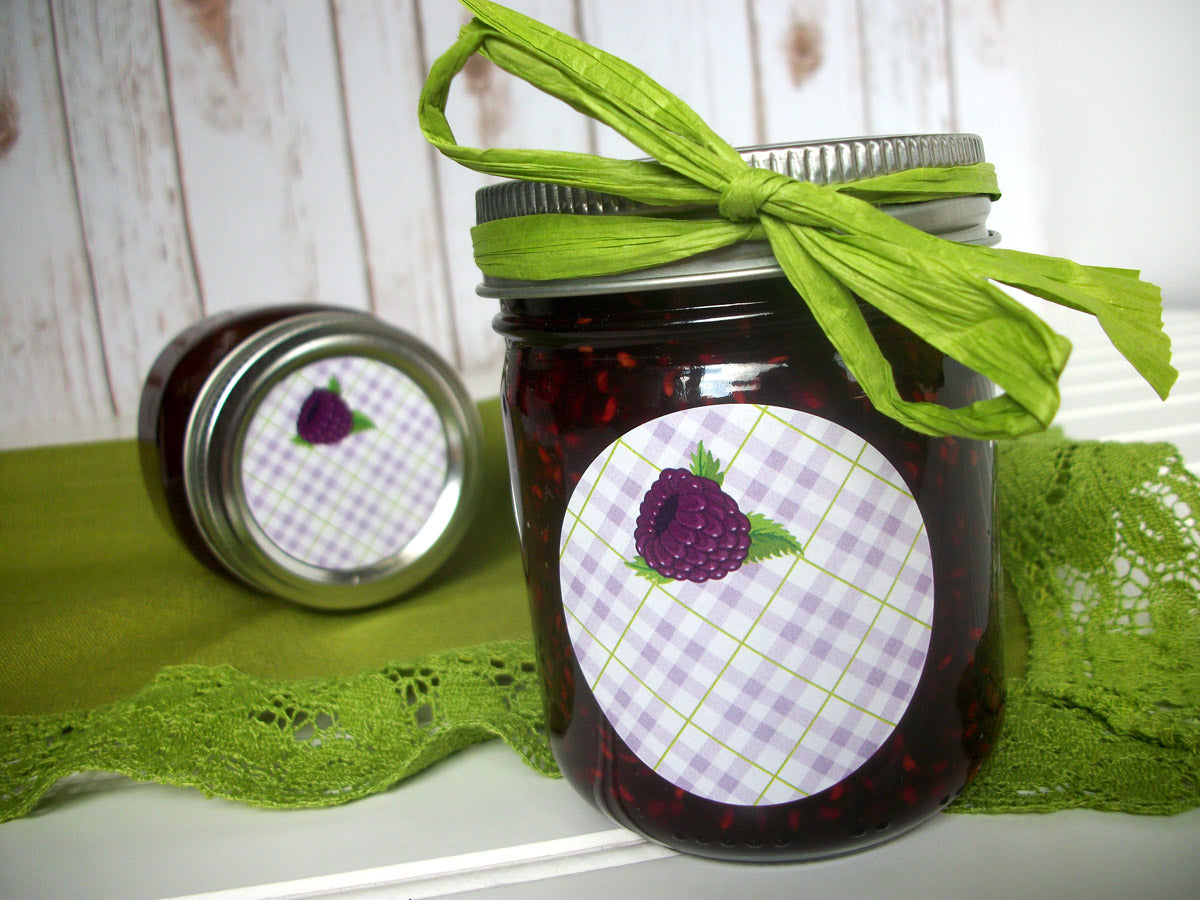 Black Raspberry Canning Labels | CanningCrafts.com