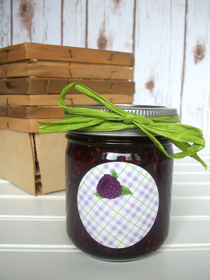 Black Raspberry Jam & Jelly Canning Jar Labels | CanningCrafts.com