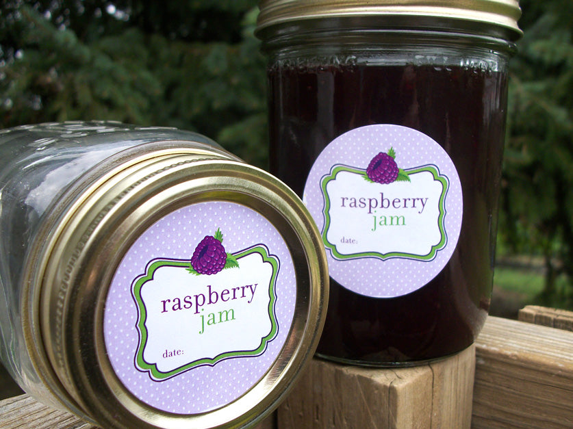 Black Raspberry Jam Canning Jar Labels | CanningCrafts.com