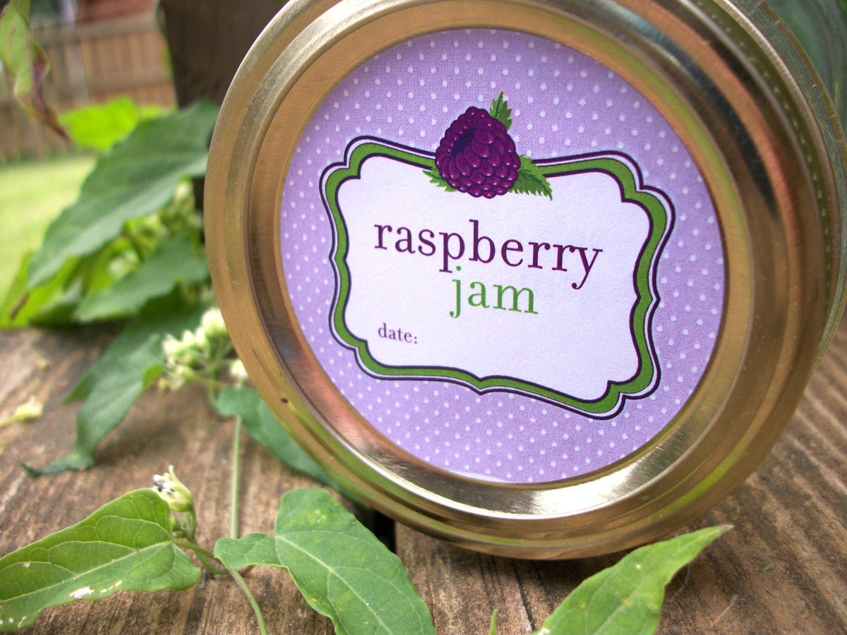 Black Raspberry Jam Jar Labels | CanningCrafts.com