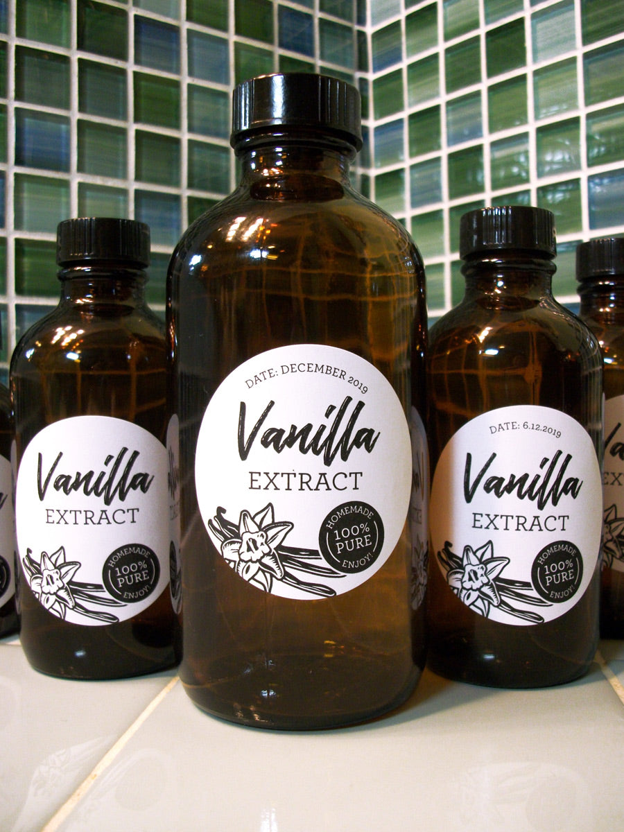 Black & White Vanilla Extract Labels | CanningCrafts.com